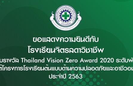 ประกาศผลรางวัล Thailand Vision Zero Award 2020 สำหรับสถานศึกษา
